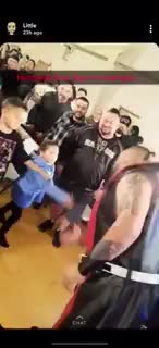 Wrestler spits on little kid after offering a high five. So the dad responds.. I get it's a show and he's supposed to play the villain, but dammit no one asked him to go that far and spit on children.
