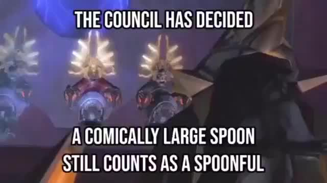 Only a spoonful. .