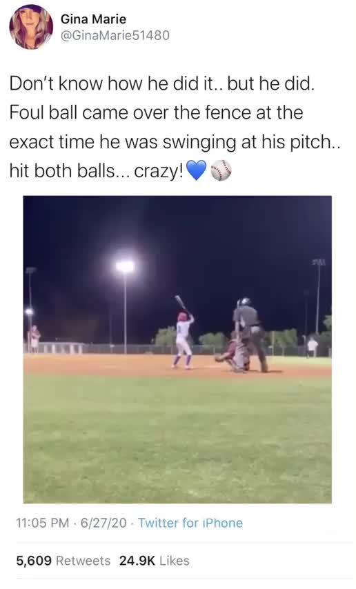 fooul balls. .. Crazy how this can happen.