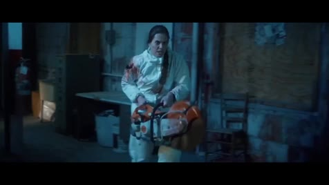 how do you ing fail with a chainsaw. .. She wasn't strong enough to raise it quickly, so the guy just took a step back every time she tried.