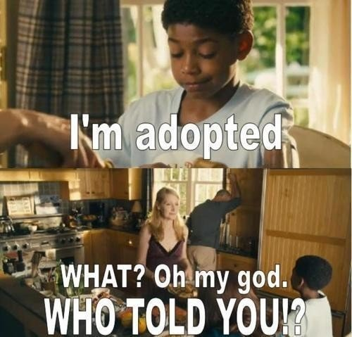ADOPTED. . ias'. potentially the best part of that movie