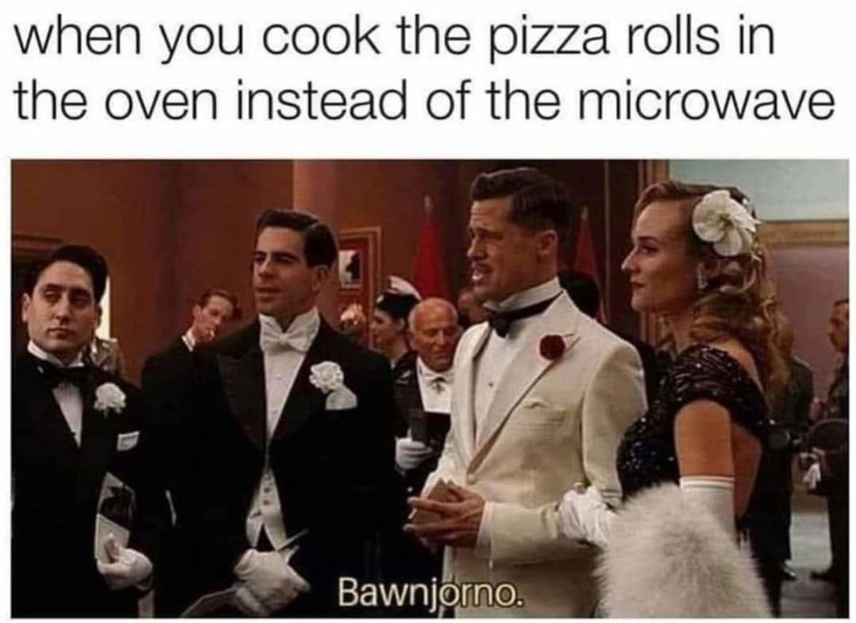 All The Difference. .. Oven-cooked food hits different than microwaved food.