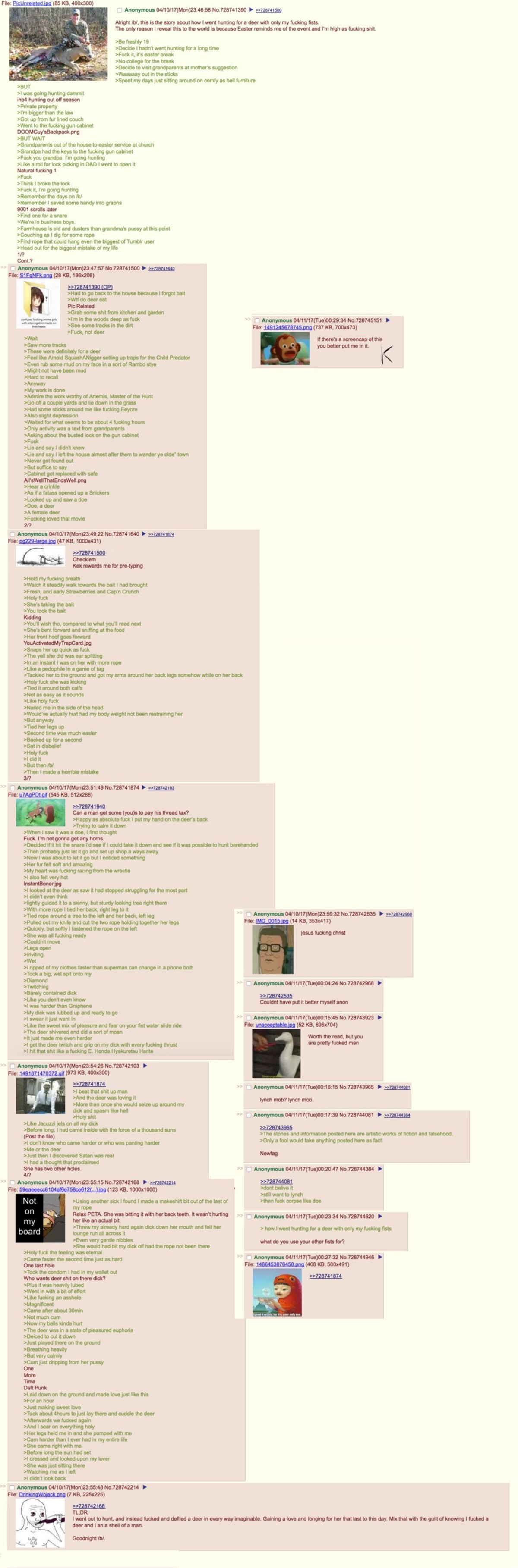 Anon goes hunting. join list: Chanoholic (322 subs)Mention History.. Deer lord.