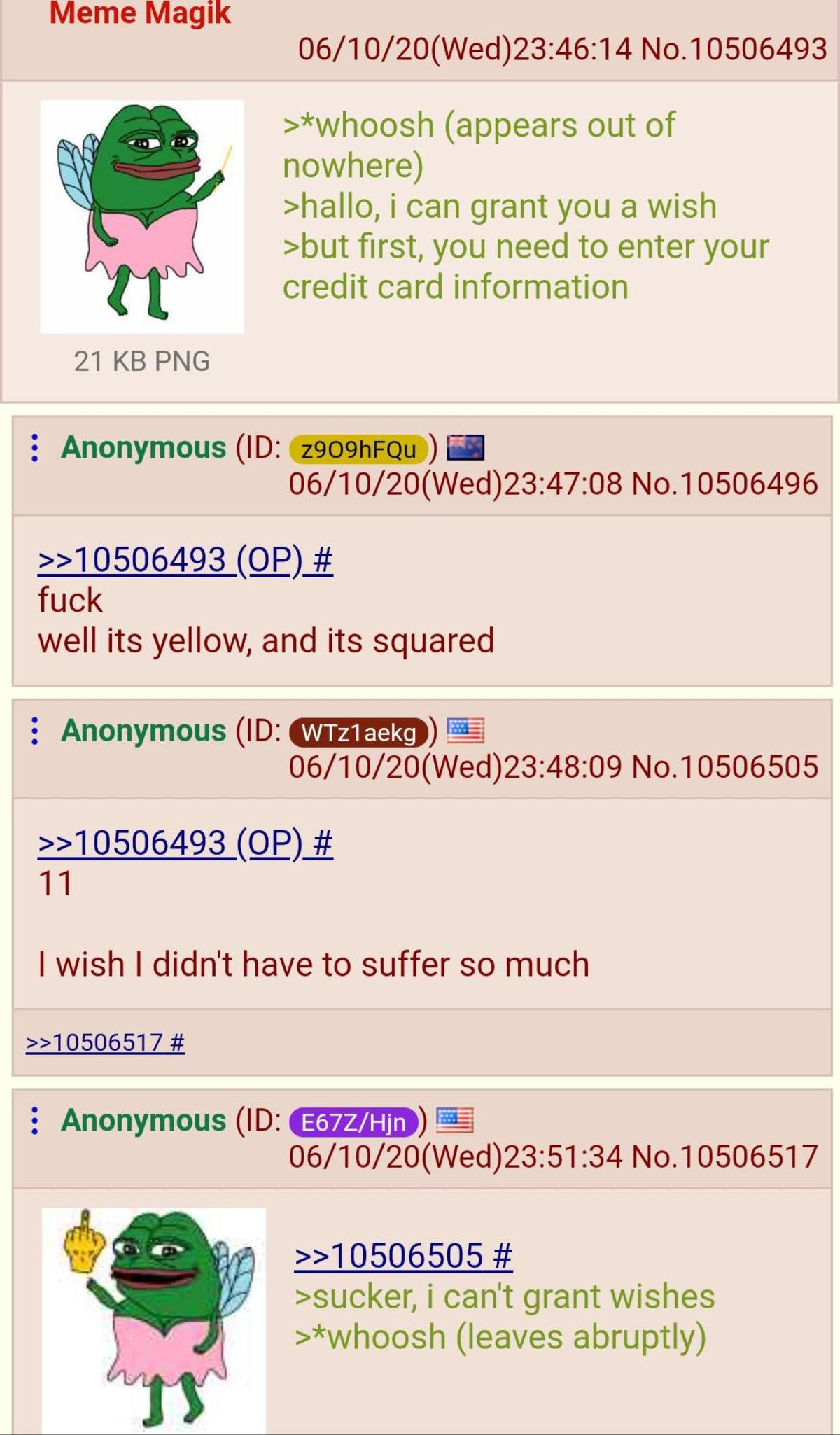 Anon Grant's Wishes. .