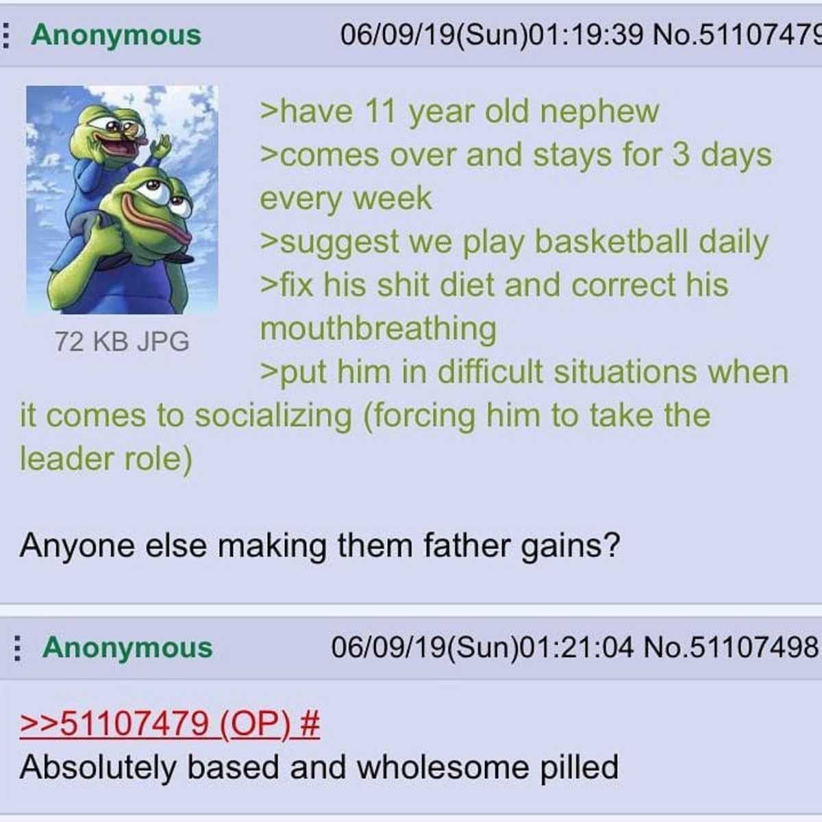 Anon is a positive influence on his nephew. .. my nephew is a furry, please help me someone. i try like this and he goes full autism mode (he is on the spectrum, but very mild)