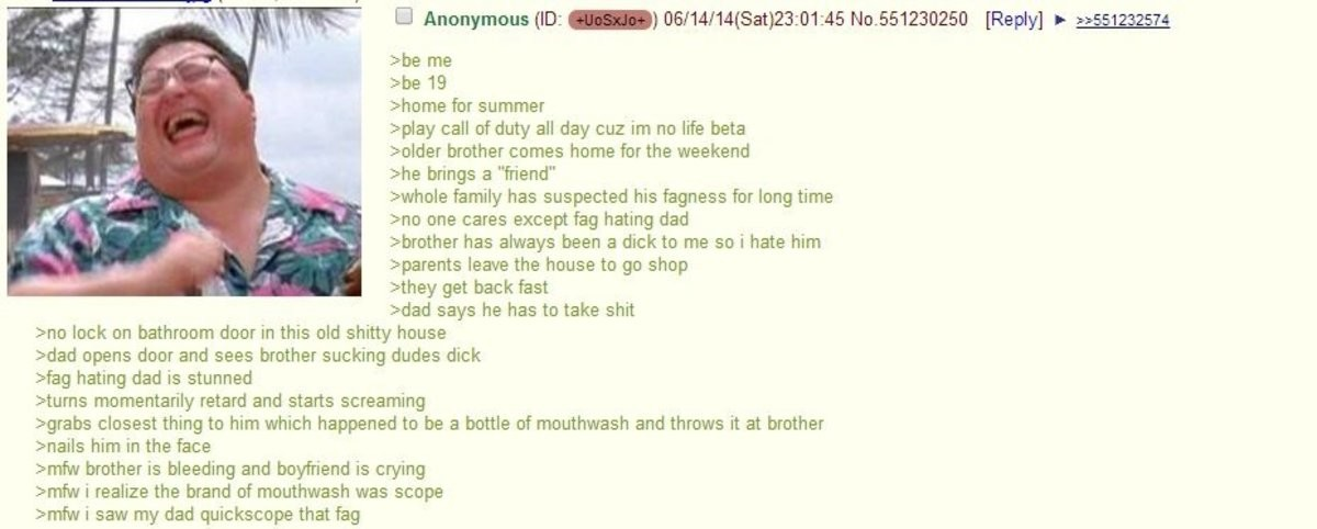 Anon is home for the summer. join list: Chanoholic (322 subs)Mention History.. Fags are not ok. God does not approve.