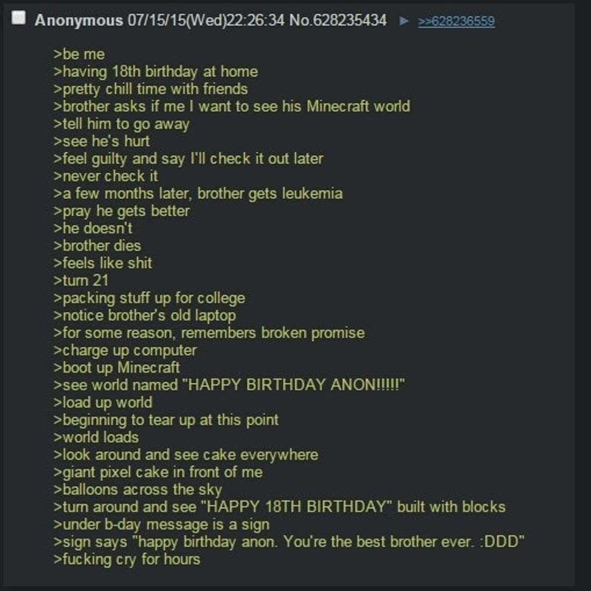 Anon plays Minecraft. .. It's.. it's fake and gay.. Right?