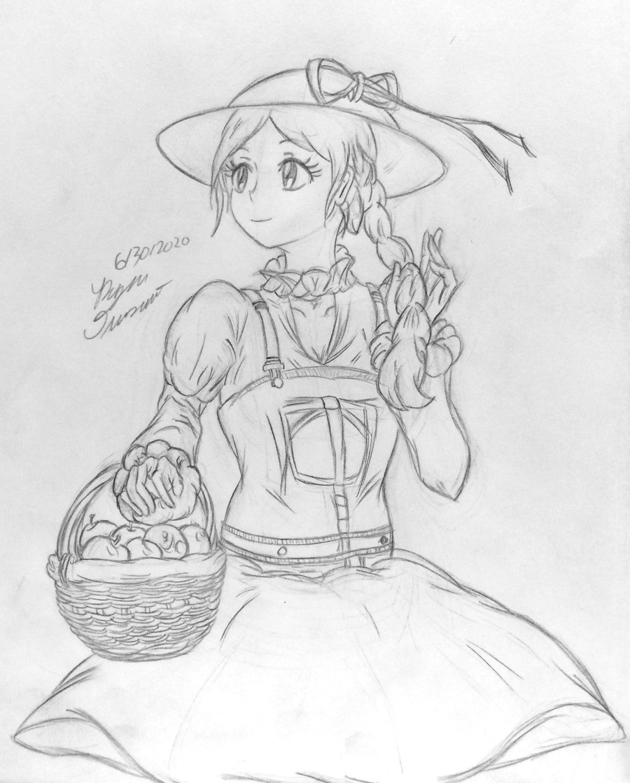apples. an oc for tonight, dunno what to name her just yet. But she's selling apples, you should buy one. join list: ReeSacorOcelot (36 subs)Mention History.. Adorable.