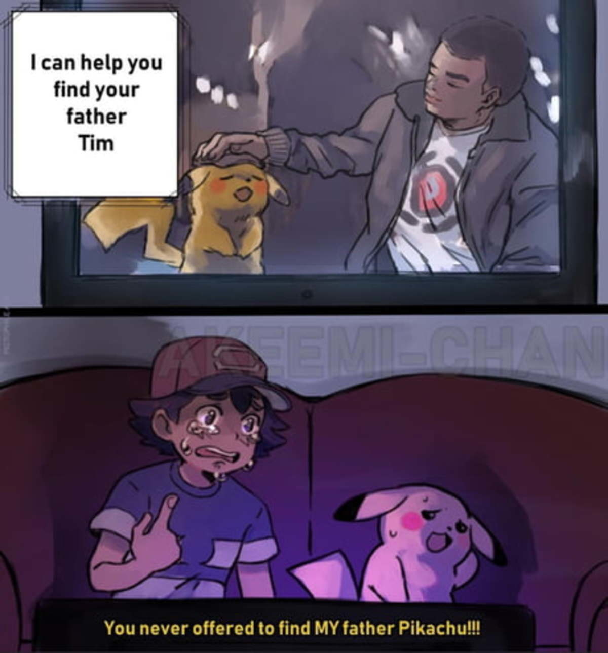 Ash's father is Arceus.. .. Good movie. A little awkward in places, namely the final act, but it was mainly just nostalgic eye candy that gave me the same vibes and feeling of wonder that