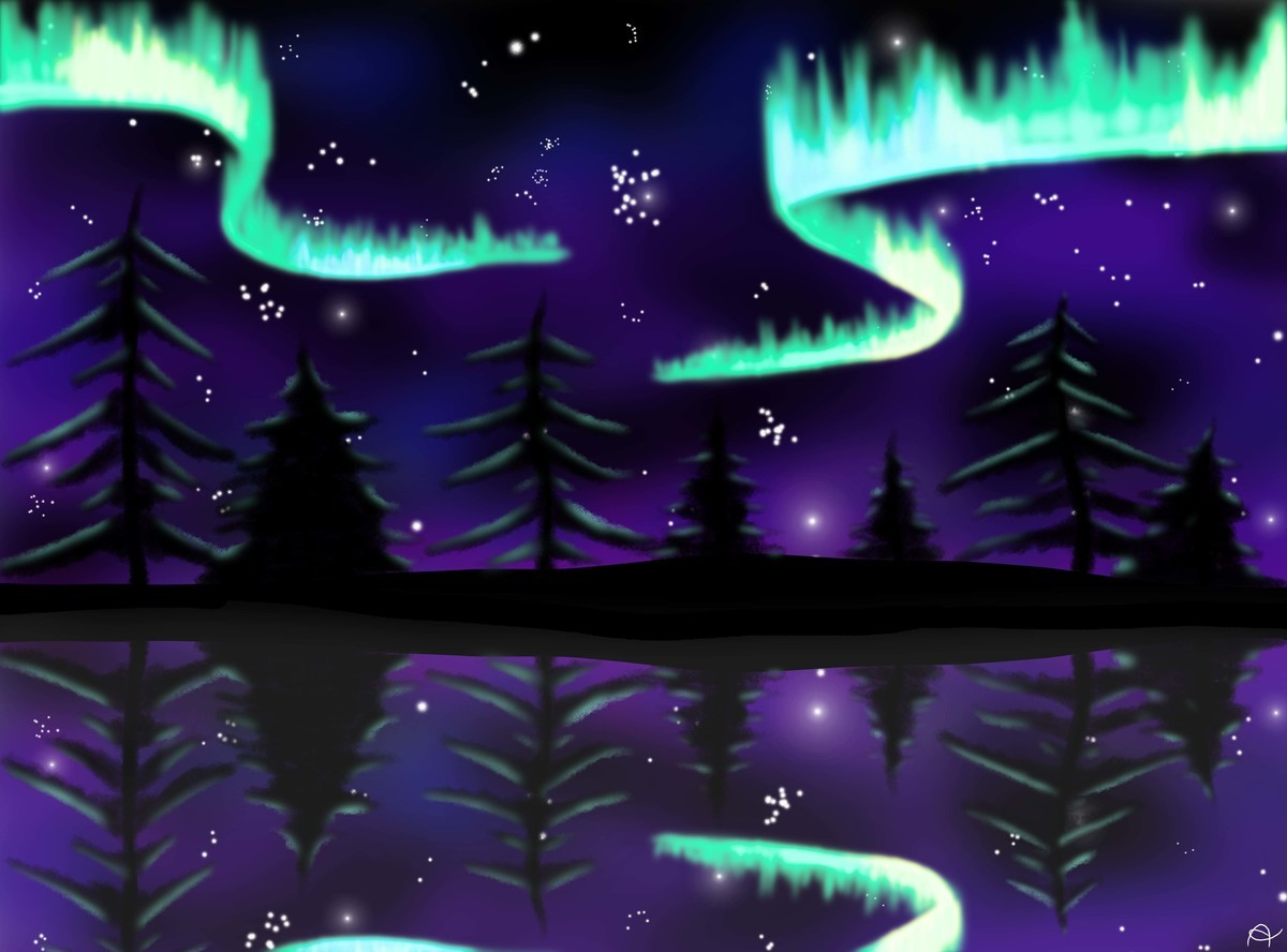 Aurora Borealis. See more of my Art here: Still deep in depressions, but I managed somehow to draw a little bit... in this part of the internet?