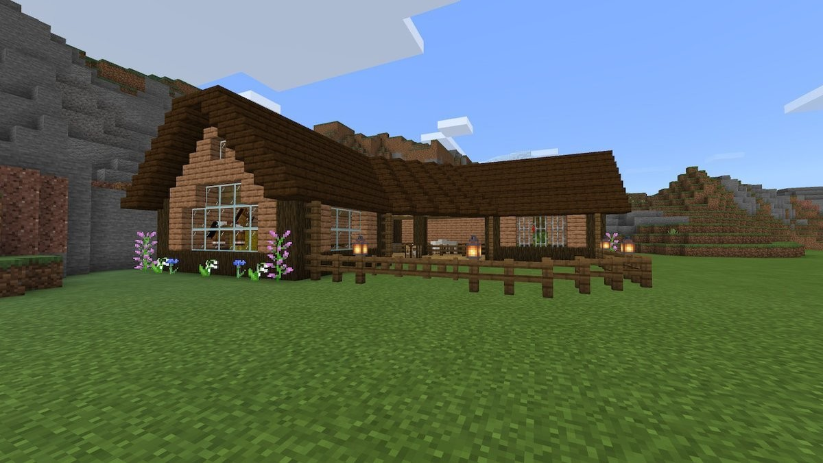 Barn stable animal house thing. This place looks better than the house I made for myself... That does look nice All i got is a small room in a cave so far