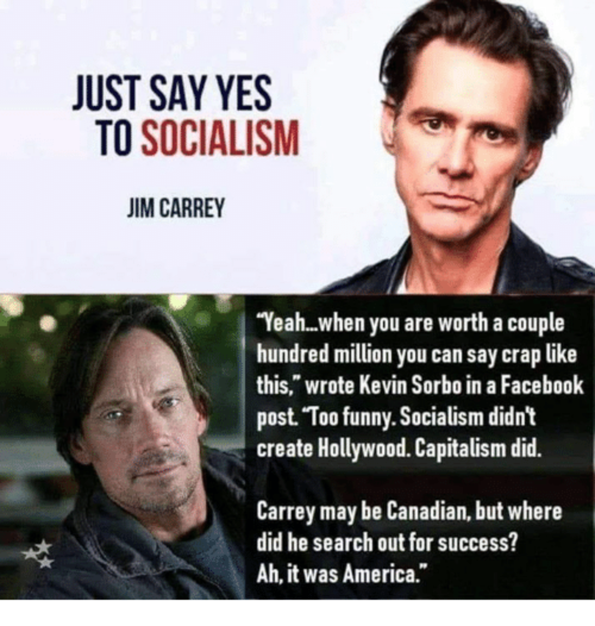 Based Hercules. .. I know actors are generally terrible people, but ole Carrey has just been the cream of the nightmare crop lately. Who died and made him Satan?