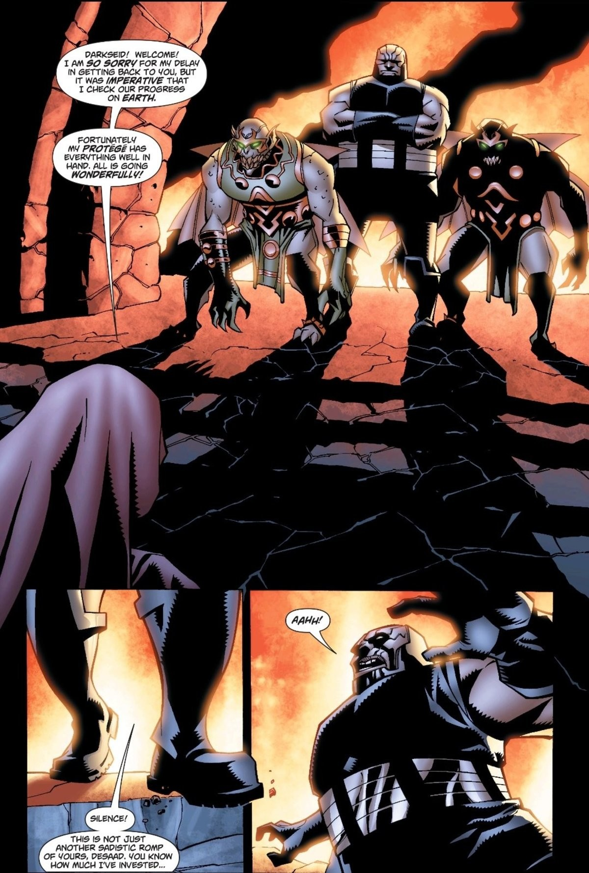 Darkseid Tripped. .. ok can a get some context? cuz you don't just drop some like DARKSEID of all people dropping like a sack of potatoes and not even give an issue for where this h