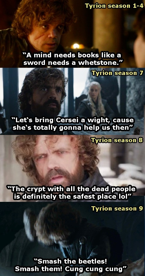 Descent. .. It's pretty goddamn hard to write a character smarter than yourself, which is why it's a good thing Hodor died before D&D had the chance to bring him down t