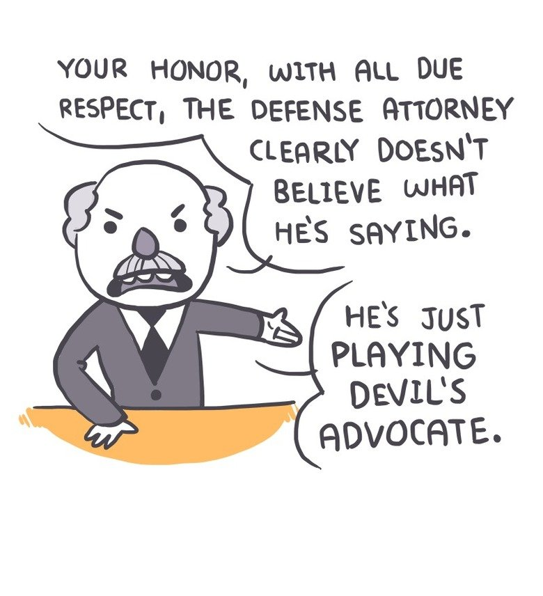 Devil's advocate. owlturd.com. RESPECT, THE DEFENSE. , that was hella smooth
