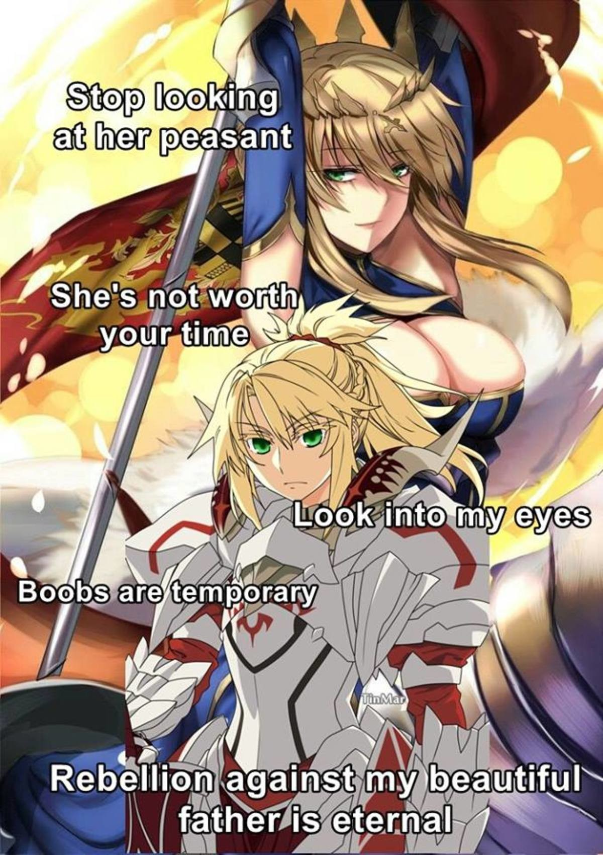 Do Not Look. join list: BewbDudes (2601 subs)Mention History join list:. pseudo-penis wielding female King Arthur with a J cup rack what in the actual Japan. No. I draw the line here. no now excuse me while I worship the glory that i
