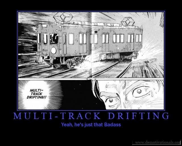 Drifting. Multi track style..... whoa! now, technology can drift a train? or is it chuck norris driving?