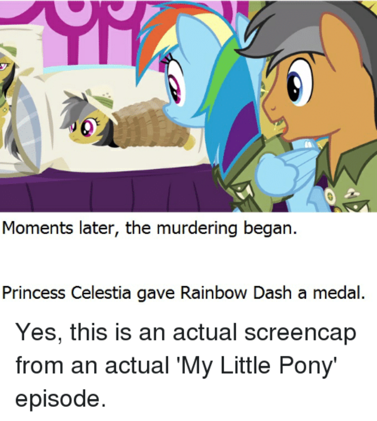 Hash. .. No! It's not supposed to be like this! Equestria is supposed to be a socially enlightened fantasy world where everyone has a true place and everyone can be love