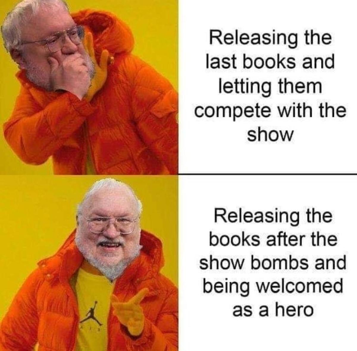 His plan all along. .. Or he's just a Virgin Gardener who can't compete with a Chad Architect like Tolkien But yeah, I would not be surprised if his book sales went up due to the poor