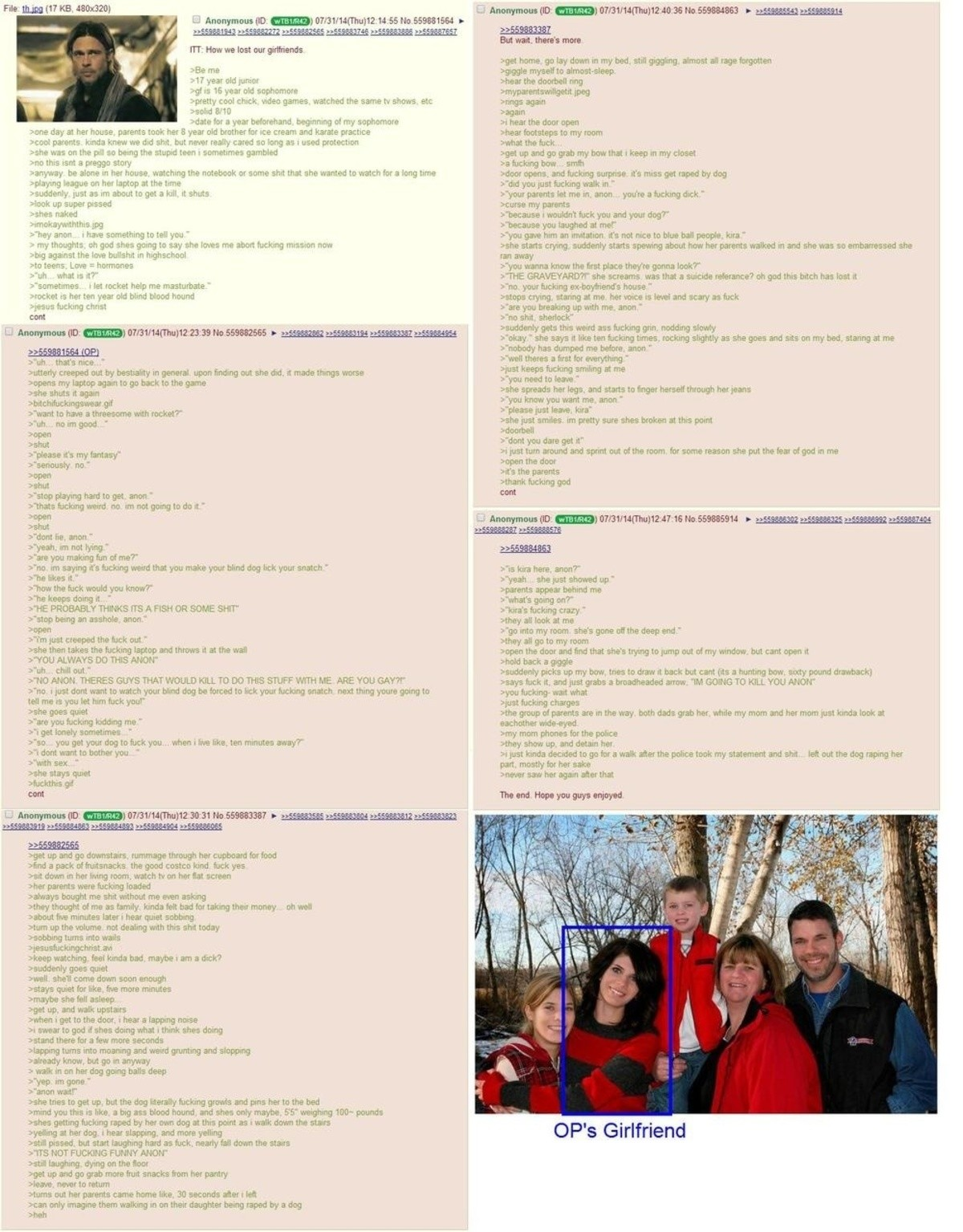 How anon lost his gf. join list: Chanoholic (322 subs)Mention History.. I forgot what this was. I was reading the first part completely oblivious. ''Sometimes... I let Rocket help me masturbate.'' It all came flooding back.