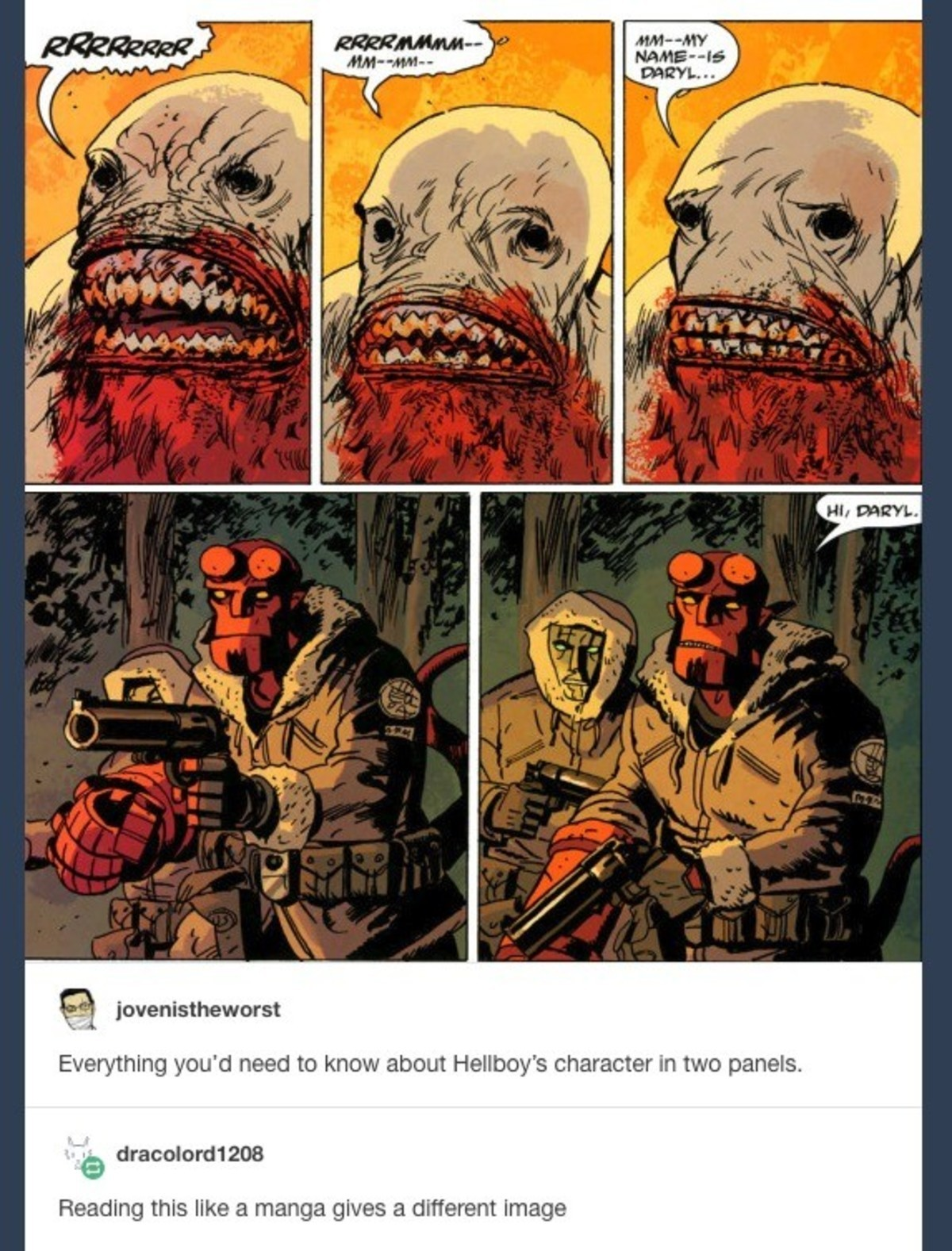 itchy gainful hollow Giraffe. .. Well the manga version is also within the reality of a plausible hellboy situation