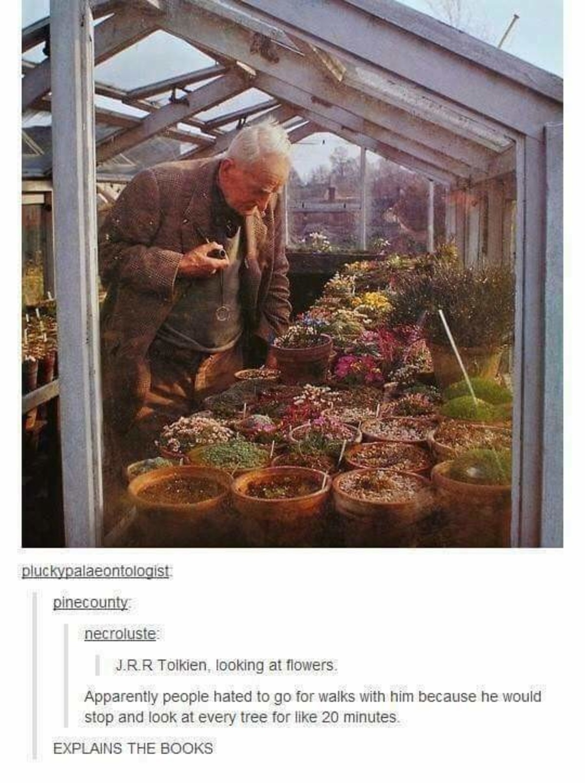 J.R.R Tolkien. .. Huh, finally something me and the man himself have in common. I just wish it was the talent, instead.