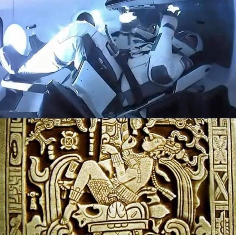 Just hear me out as I drink some bleach. .. Palenque astronaut was made into a boss fight in Lamulana.