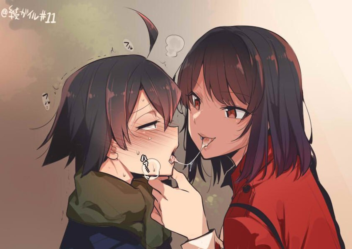 Kisses. .. Why does hachiman look like a bitch boy in this? Also this is hot, but that doesnt take away from the fact that Snafu is bad.