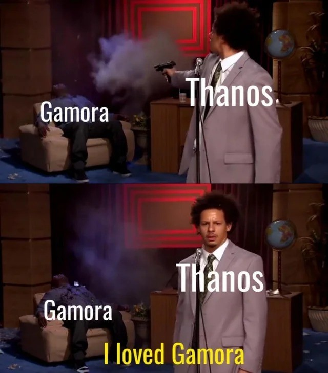 love. .. Well if he didnt he wouldn't have gotten the soul stone. So he probably did.
