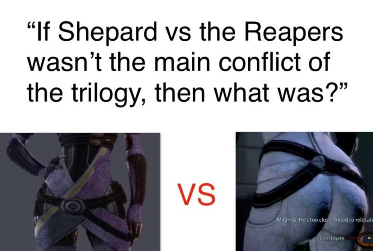 """mammoth right-hand Toad. .. >Tali vs Miranda >""""Conflict"""" LMAO, nice try MirandaComment edited at ."""