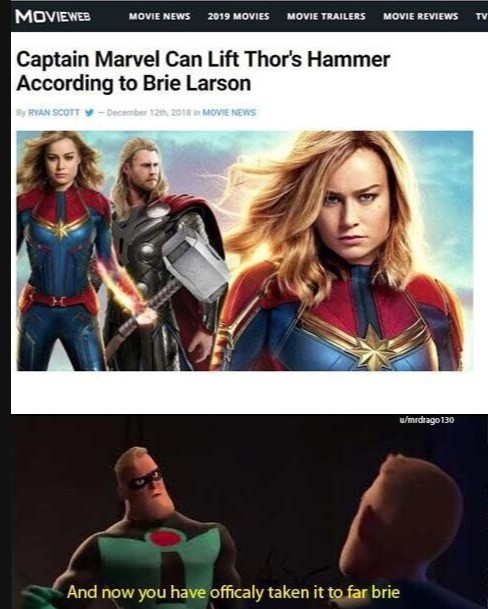miscreant true sticky Donkey. .. She legitimately cannot. Becoming a tyrant and killing innocents made an Alternate Universe Thor unworthy. In Civil War 2, Carol Danvers does exactly that.
