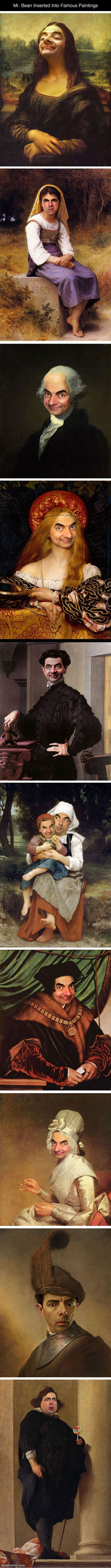 Mr Bean. source: dailyhaha. Mr. Bean Inserted Into Famous Paintings dailyhaha. com