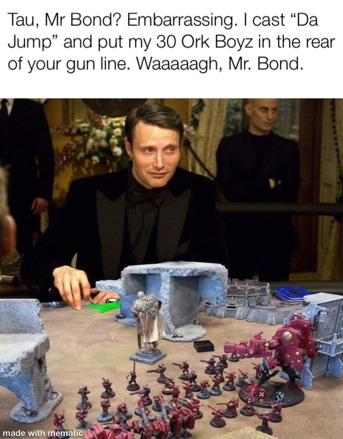 Mr.Bond. .. The only thing I really know about 40k is that orks are basically magic as