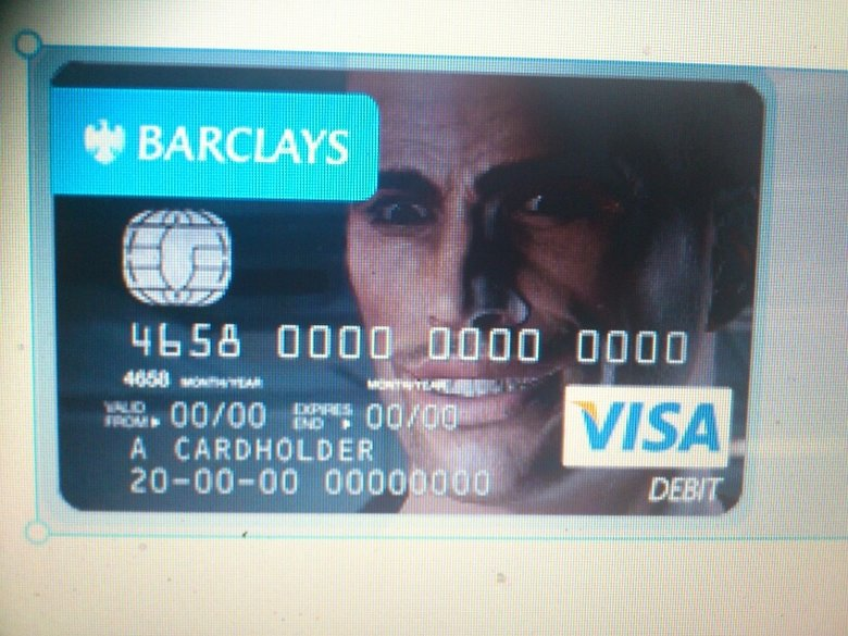 My new bank card. don't know if i'll regret it at a later date..... more like mass ERECT.