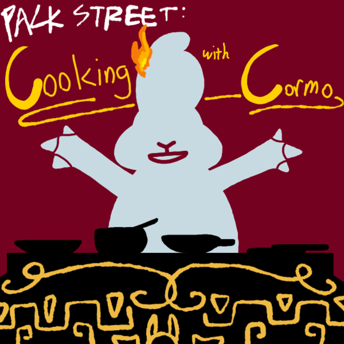 New Packstreet: Cooking With Cormo. Link to story: Bring to a boil, let stew, serve hot... since when is gideon gleeful a furry?