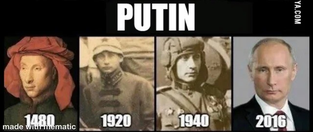 putin. .. Suspiciously no image from his KGB days