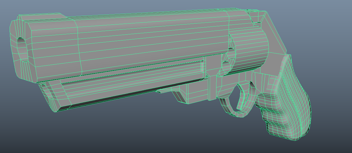 Re:Pulsus Weapon Model - Revolver (UPDATED). Some weapon model progress with the Reulsis video game project (plus first ever content, finally from years of cree