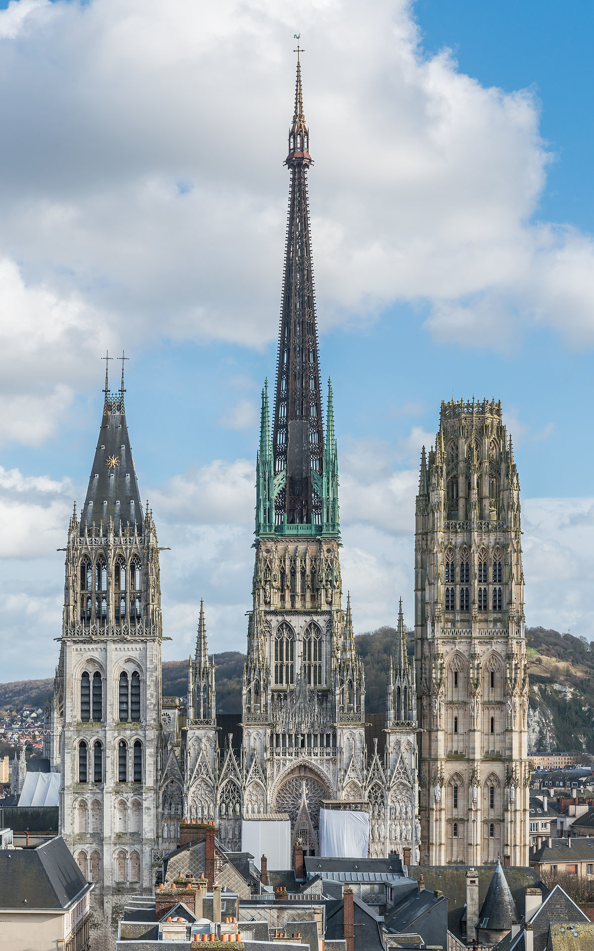 Rouen Cathedral (Rouen, France). join list: AwesomeArchitecture (77 subs)Mention History.. A testament to the creative ability of mankind... I wonder how long before someone decides they don't like, and tries to blow it up while screaming aloha snack