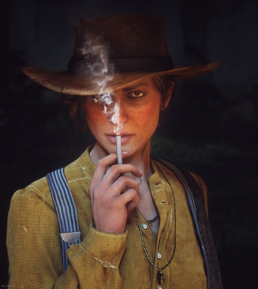 Sadie Adler. >big boy Jack Marston hates life and the Government >holy crow, it's Aunt Sadie! >she got news that John and Abigail and Uncle and the Dog