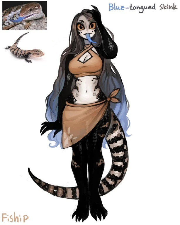 Skink. .. more like blue tongued skank amirite haha Seriously though, looks good. Wish I had the concentration to get this good