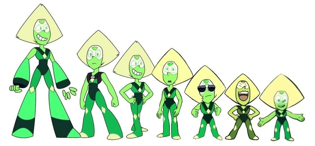smol. .. Couldn't finish steven universe just didn't like the way it was going really. Peridot was adorable though, and i love redemption arks.