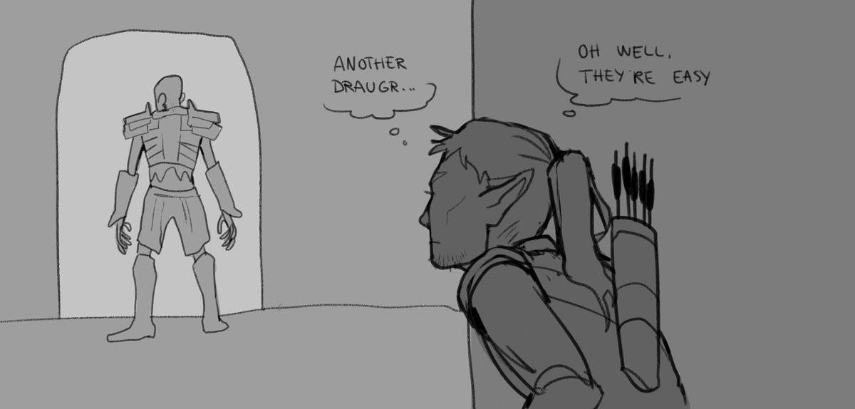 "sneaky archer. source: .. I've always despised the ""We can't make enemies smarter so we'll make them damage sponges""."