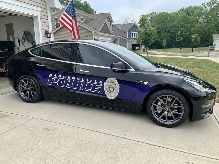 Tesla Patrol Cars. .. Love this idea. Just hope the cars themselves are sturdy enough for the job