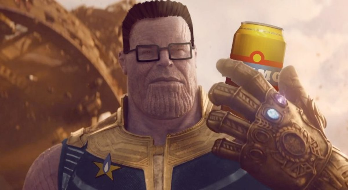 Thanos edits. .. The second Hellboy one is actually pretty good wtf