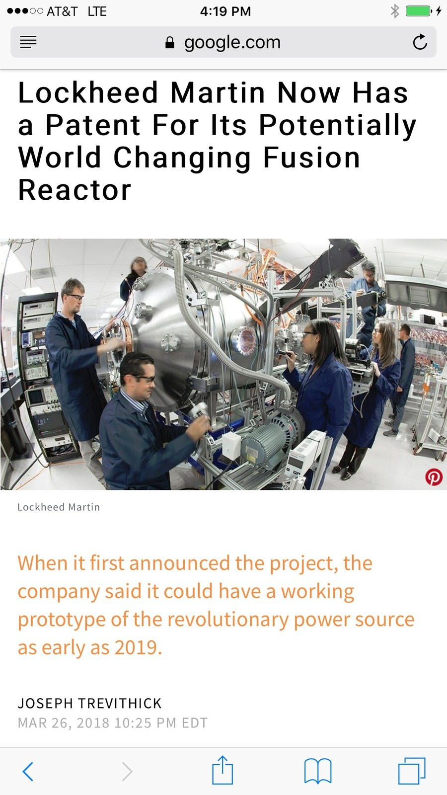 The Future. INB4: Breaking news, today Lockheed Martin's head of advanced science division Robbie Mandelbaum announced the fusion reactor project has been termi