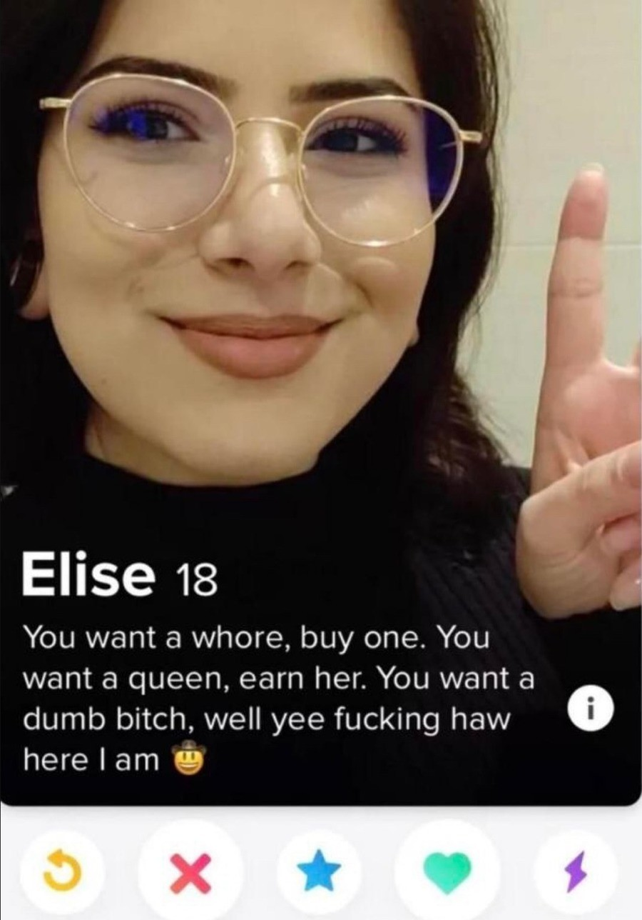 Tinder. .. Shes probably full of herself tbh