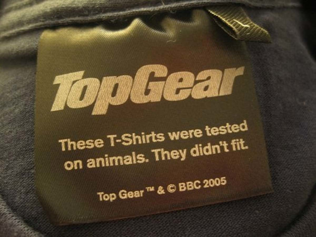 t-shirt label. .. i guess you could say it was ambitious, but rubbish.