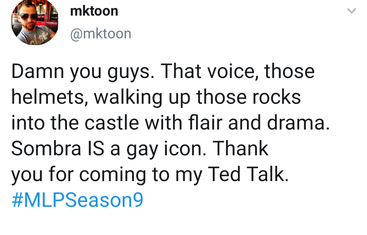 Very poor choice of words. >evil irrademable retard that kidnaps children >gets blasted to oblivion twice >gay icon.. spoilers m8. Come on, we don't all have the luxury of Saturday morning cartoons