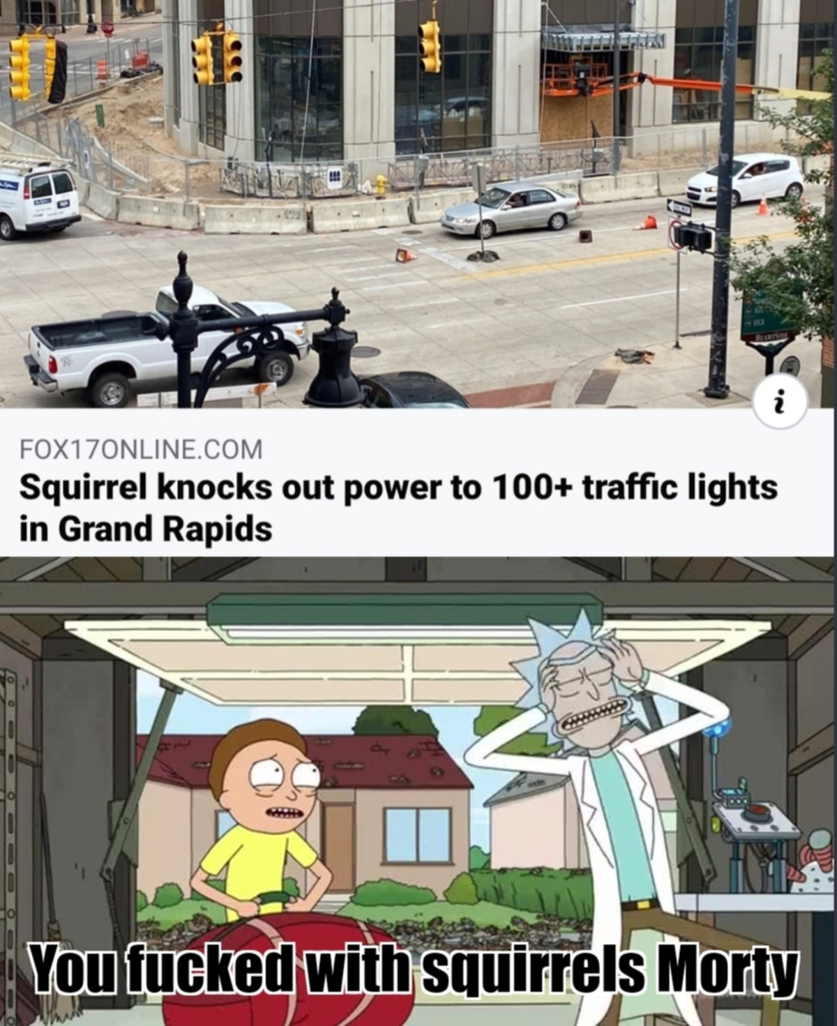 Way To Go Morty. .. with squirrels they back