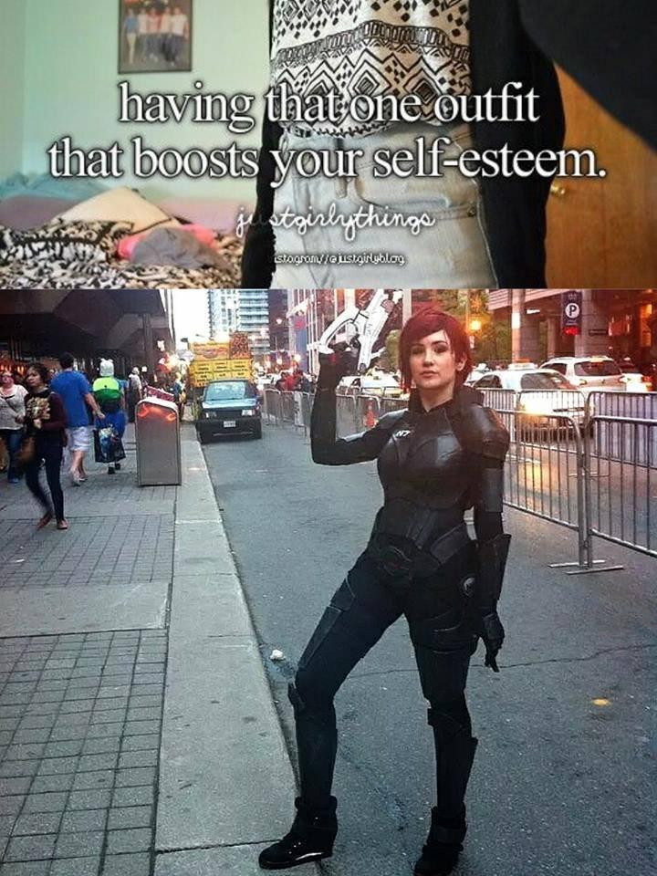 work cloths > slut cloths. . tit P.. That's a nice cosplay.